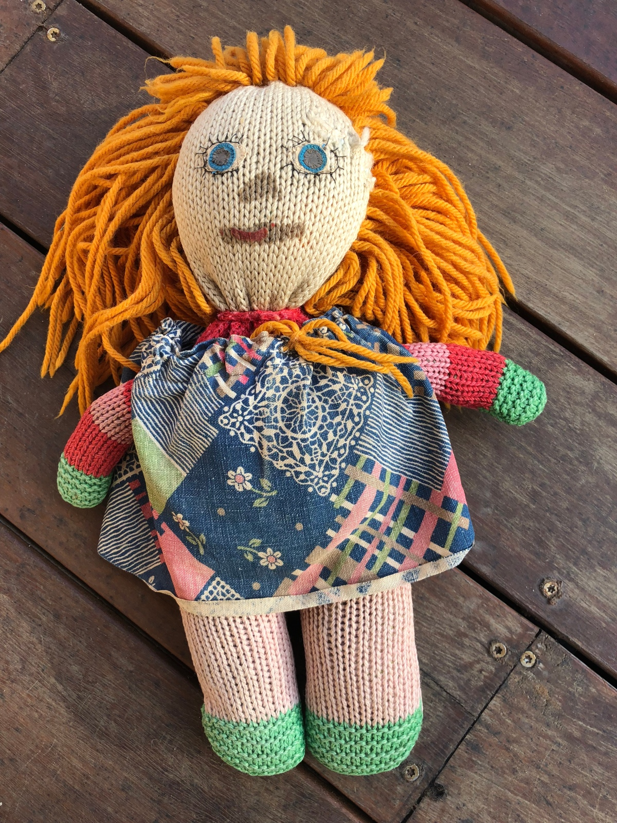 Doll, handmade doll, knitted toy